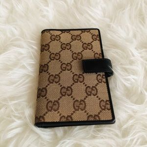 Gucci GG Monogram Notebook Cover/ Pocket Organizer